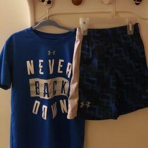 Boy's Under Armour Shirt & Shorts